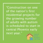 Phoenix Living Center for Adults with Autism Planned