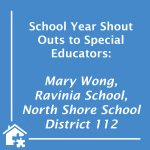 Shout Out to Special Educators at Ravinia School! (BLOG)