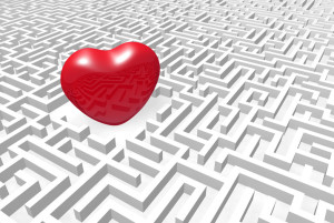 Heart into labyrinth.
