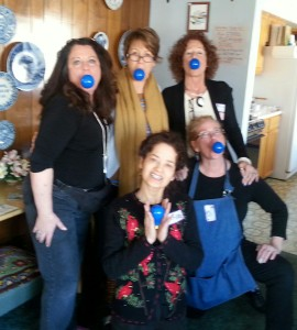 Last year, these ladies had some fun with the Light It Up Blue pic!
