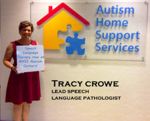 Tracy Crowe by reception sign