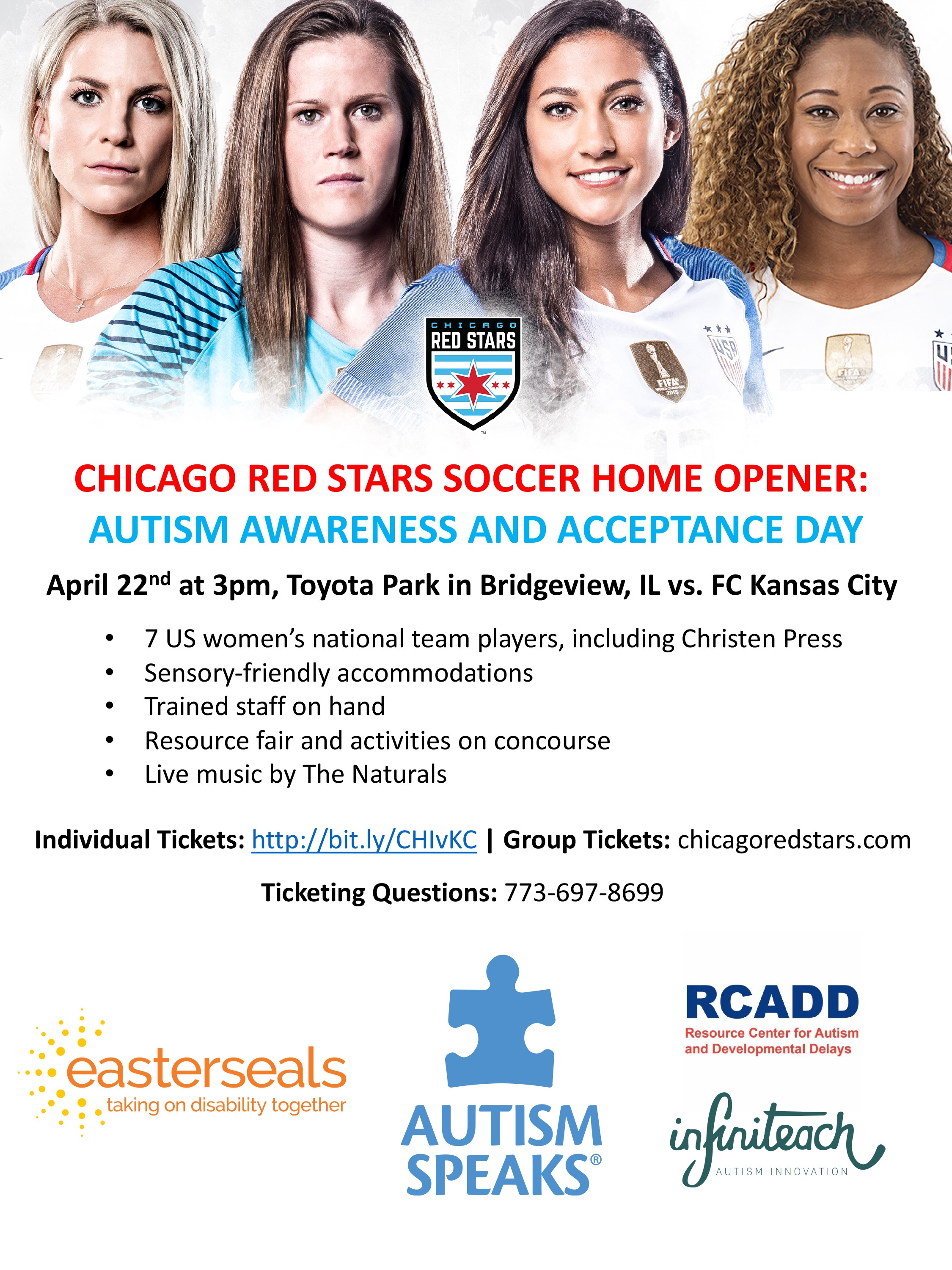 Autism Awareness & Acceptance Day – Chicago Red Stars Go Sensory Friendly for Autism Awareness Month